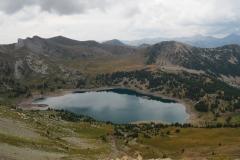 Le lac d'Allos vu du pas du Lausson