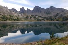 Le lac d'Allos en fin de journée