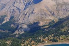 Le lac d'Allos et le Mont Pelat