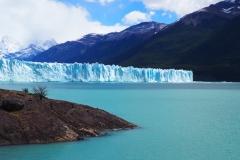 Première vue du glacier