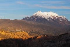 La vue sur l'Illimani