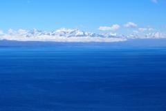 Le massif de l'Illampu vu depuis l'Isla del Sol