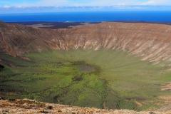Le cratère de la Caldera Blanca