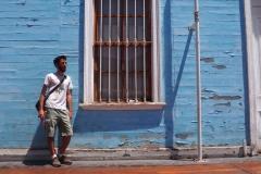 Le bleu ciel, la couleur d'Iquique