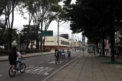 Image rare de Bogota sans voitures
