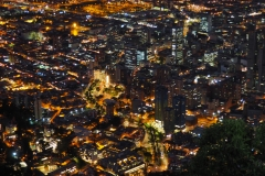 Vue de Bogota by night