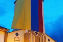 L'église de Salento aux couleurs de la Colombie