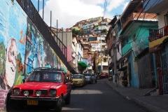 Les rues pentues de la Comuna 13