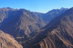 Première vue d'en haut du Canyon de Colca