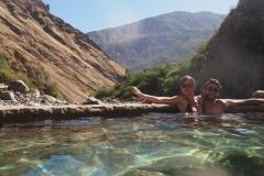Les piscines d'eau chaude !
