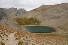 La forme originale du lac des Garrets