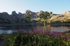 Le lac d'Allos au petit matin