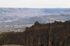 La Paz depuis la vallée de las animas