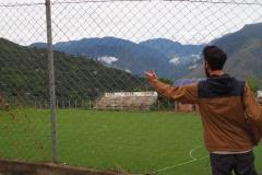 Supporter de foot dans les Yungas