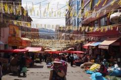 Le marché dans les rues