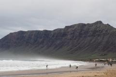 La plage des surfeurs à Famara
