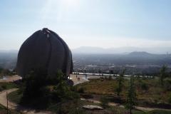 La vue depuis le temple Bahai