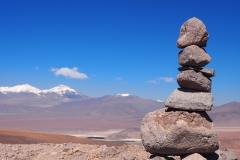 Cairn à plus de 4000 mètres