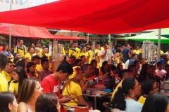 Tous devant le match Colombie-Angleterre
