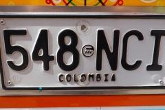 Plaque colombienne