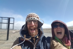 Selfie froid + gros vent