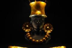 Pièce en or au musée Larco